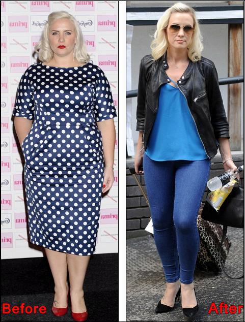 Claire Richards Gewichtsverlust vor und nach dem Diät-Trainingsplan