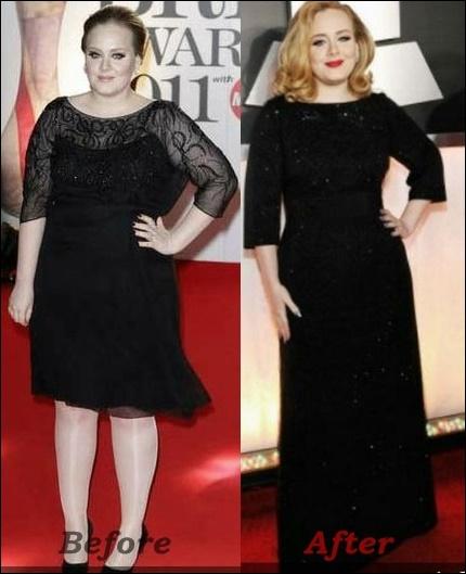 Adele Gewichtsverlust vor und nach Fotos Wie viel