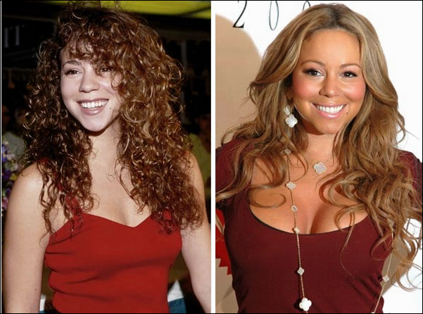 Mariah Carey Boobs Job plastische Chirurgie vor und nach Fotos