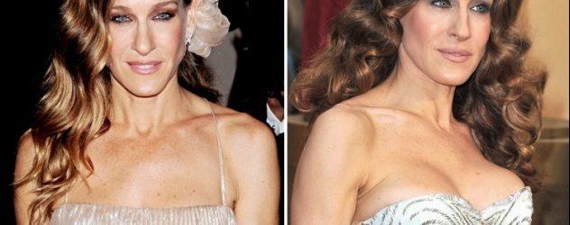 Sarah Jessica Parker Brustimplantate vor und nach Boob Job Fotos