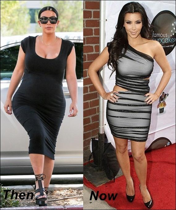 Kim Kardashian Post Baby Gewichtsverlust vor und nach dem Trainingsplan